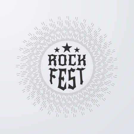 concierto de rock: Ilustración del vector.