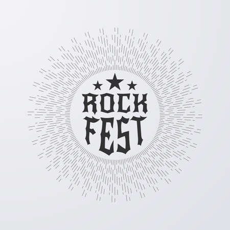 rock and roll: Vector illustration.