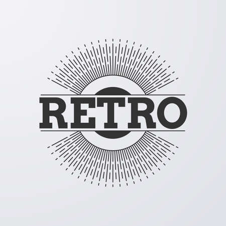 Vector illustration. retro  with rays.