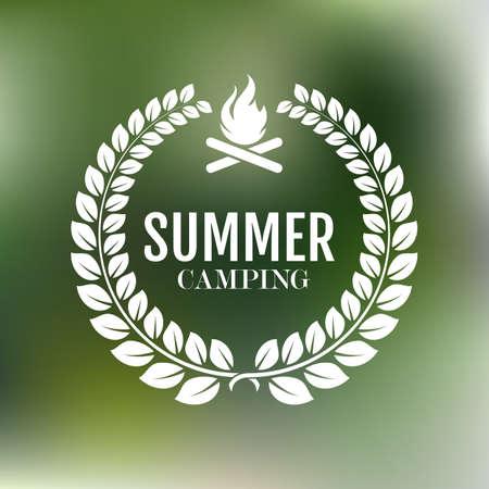 summer sport: Vector illustration. logo summer camp.