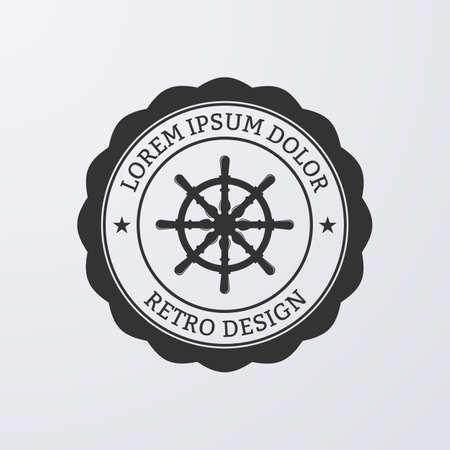Vector illustration. Logo nautical theme.