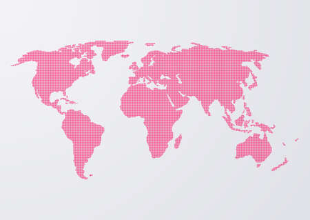 Vector illustration of a world map of dots.