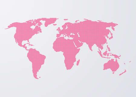 Vektorové ilustrace mapu světa z teček. Ilustrace