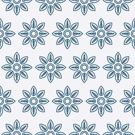 carpet texture: Vector illustration of a seamless pattern of flowers.