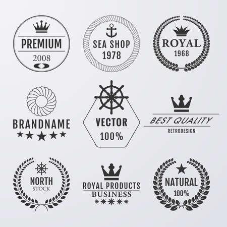 himalaya: Vector illustration. Set simple logos. Illustration