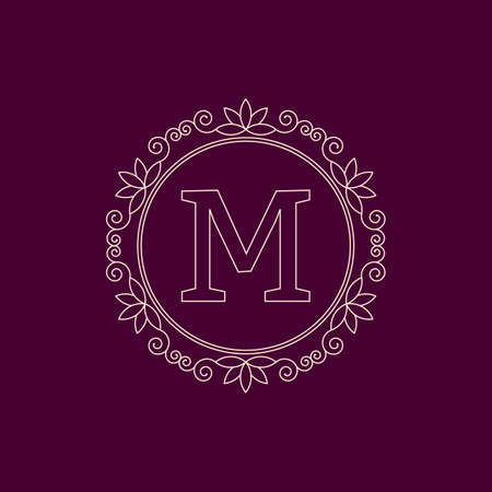 Vector illustration. Luxury Monogram logo. Иллюстрация