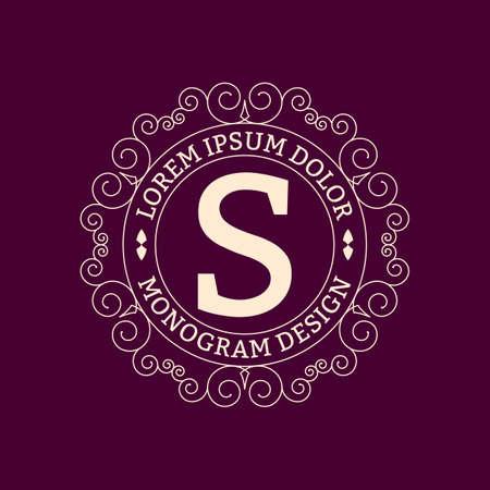 logo element: Vector illustration. Luxury Monogram logo. Illustration