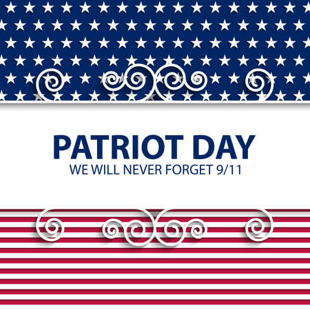patriotic background: Stock vector Patriot Day USA.