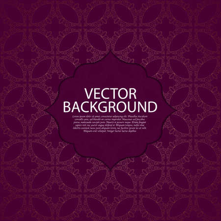 postcard background: Vector illustration of a modern linear pattern invitation.