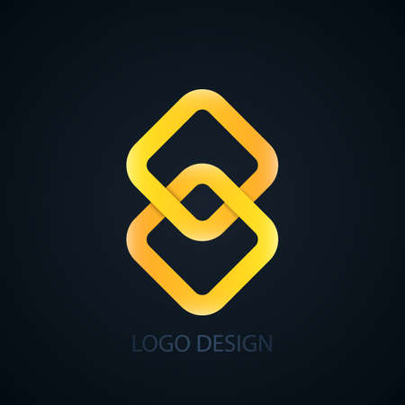corporative: Vector illustration of abstract business logo squares.