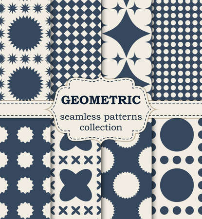 Vector illustration seamless geometric patterns.