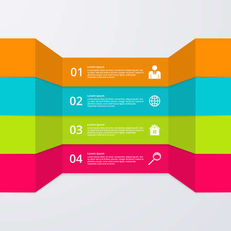 website layout: Vector illustration infographics four options.