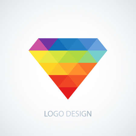 Vector illustration of diamond logo.