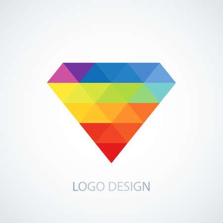 facet: Vector illustration of diamond logo.