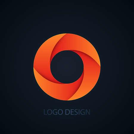 Vector illustration of logo letter o.