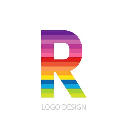 Vector illustration du logo coloré lettre r. Banque d'images - 44784501