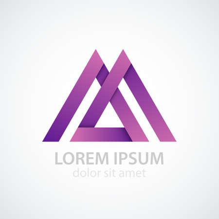 Vector illustration of logo letter m.  イラスト・ベクター素材