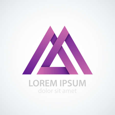 Vector illustration of logo letter m. Иллюстрация