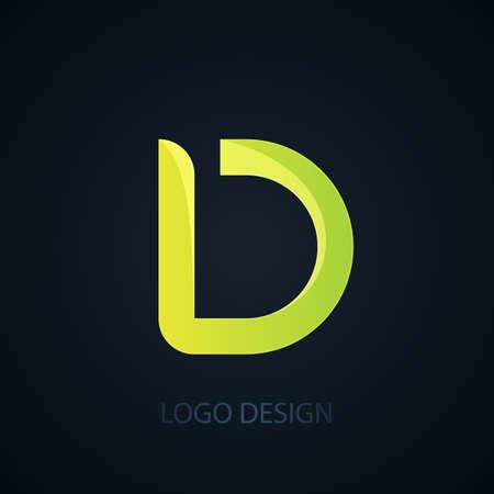 d: Vector illustration of logo letter d. Illustration