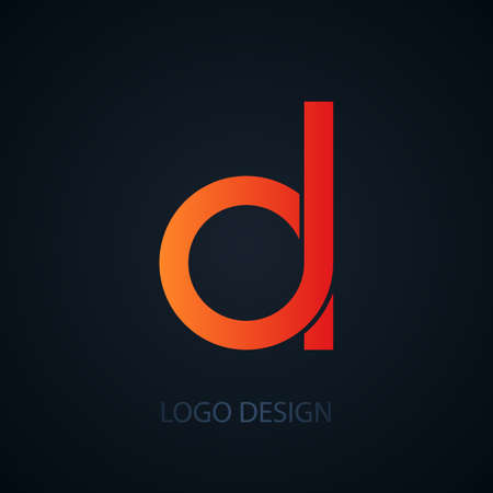 d: Vector illustration of logo letter d. Illustration