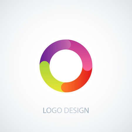 cocao: Vector illustration logo letter o.