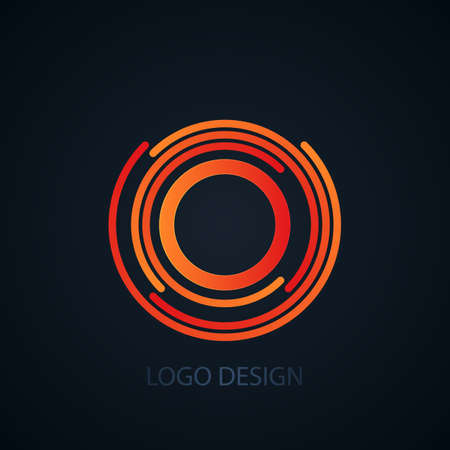 cocao: Vector illustration of logo letter o.