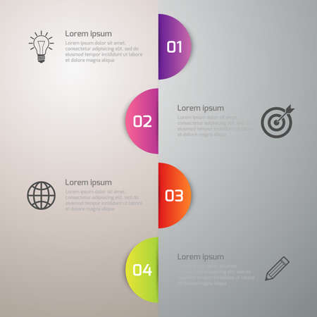 an example: Vector illustration infographics 4 circle options. Illustration
