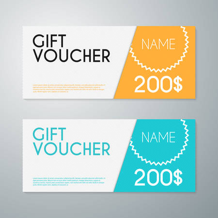 Vector illustration gift voucher template.