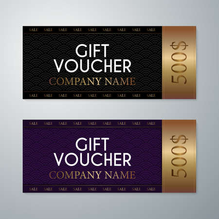 restaurant bill: Vector illustration gift voucher template.