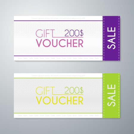 facture restaurant: Vector illustration gift voucher template.