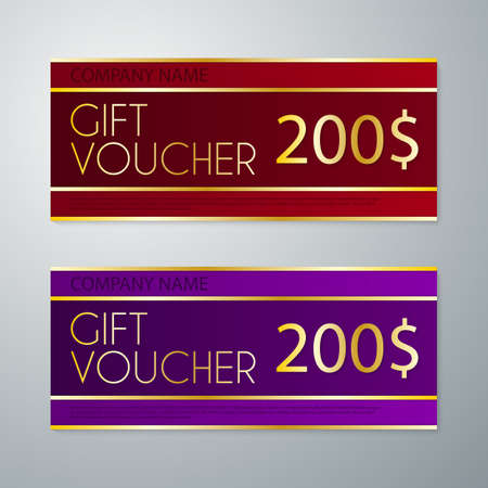 free border: Vector illustration gift voucher template.