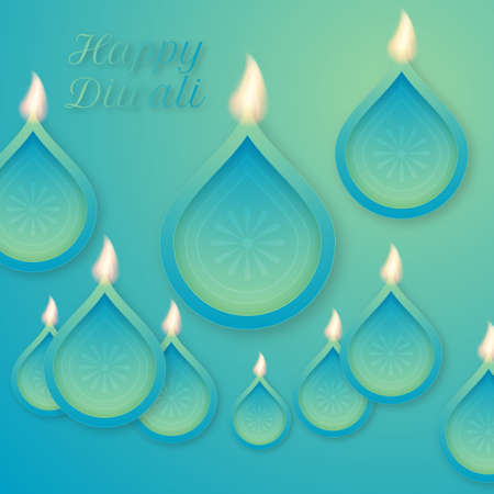 diwali celebration: Vector illustration of a happy Diwali day.