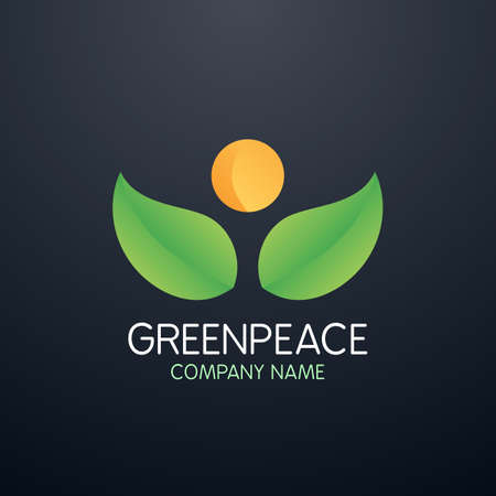 greenpeace: Vector illustration logo greenpeace company. Illustration