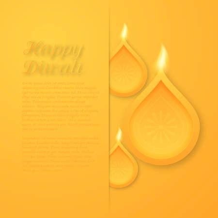 worship god: Vector illustration of a happy Diwali day.