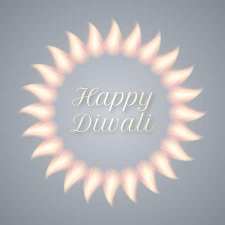 skyrocket: Vector illustration of a happy Diwali day.