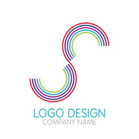 s: Vector illustration of logo design letter S.
