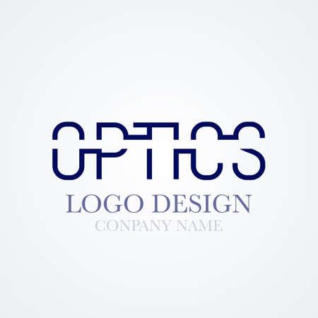 optics: Vector illustration of logo design optics.