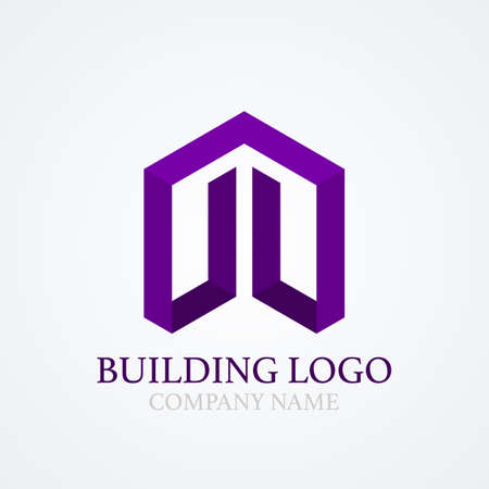 building lot: Vector illustration of logo design building. Illustration