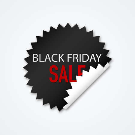label sticker: Vector illustration Sticker Black Friday discounts.