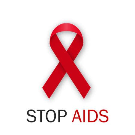 alert ribbon: Vector illustration world AIDS Day. Illustration