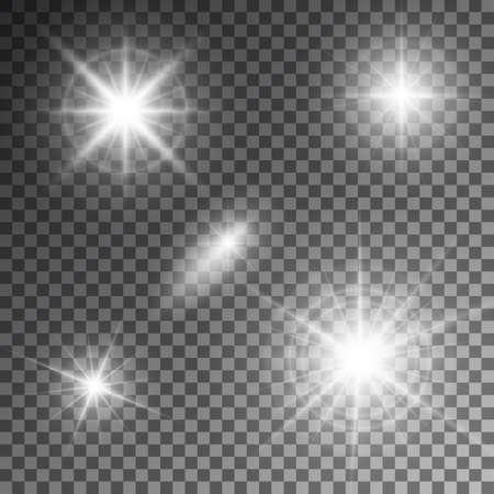 lucero: Ilustraci�n vectorial de abstractos rayos de luz bengala. Vectores