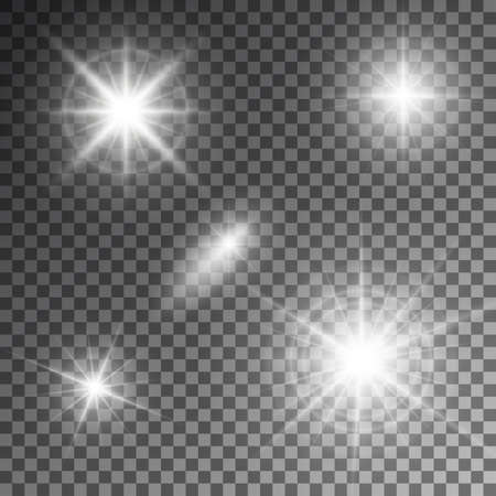 the light rays: Vector illustration of abstract flare light rays.