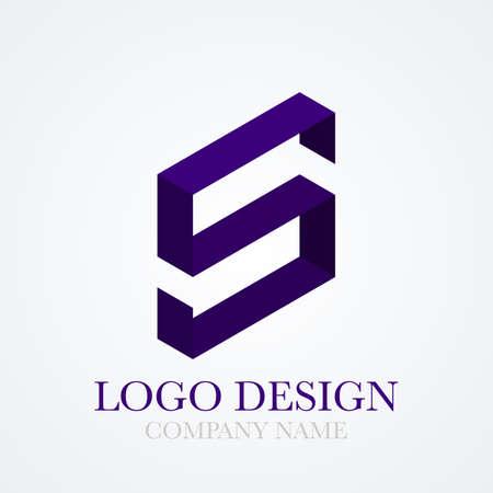 s: Vector illustration logo letter s.