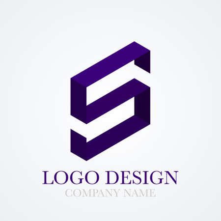 lettre s: Vector illustration logo lettre.