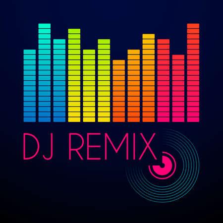 remix: dj remix typography, t-shirt graphics. vector illustration. Illustration