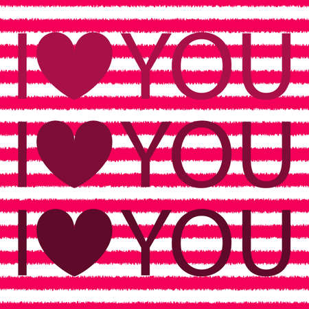 I love you with heart. shirt design. Valentines day. Stock vector