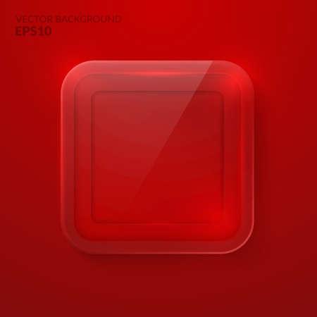 plexiglas: Square glass background. The Stock vector eps10 Illustration