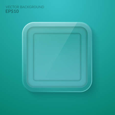 Square glass background. The Stock vector eps10 Illustration