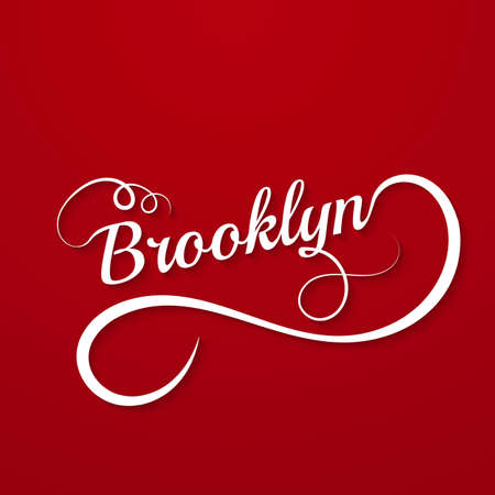 upmarket: Names Elegant Vector Lettering Brooklyn. Stock vector Illustration