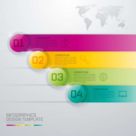 glas 3d: Infographic design white circles on the grey background. Eps 10 vector file. Illustration